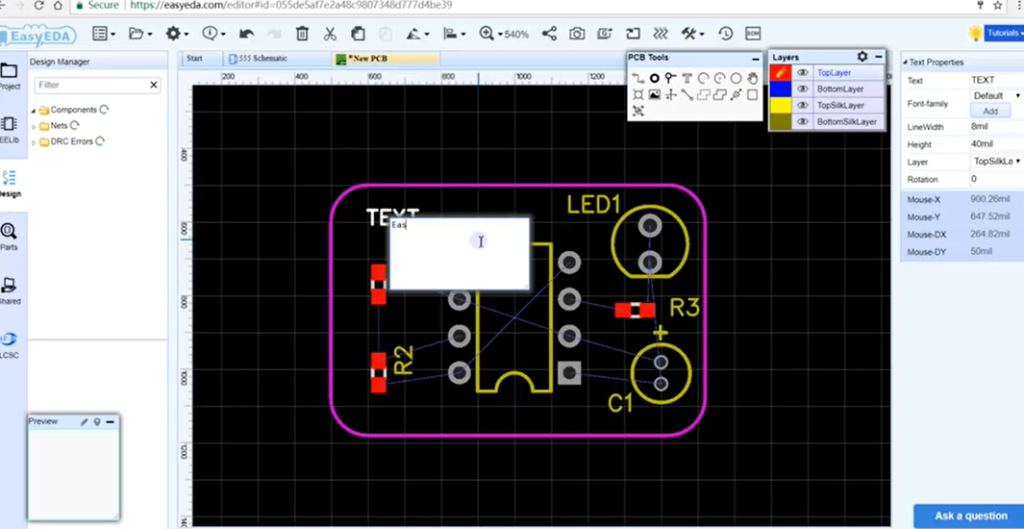 EasyEDA update – online circuit design – Labrigger